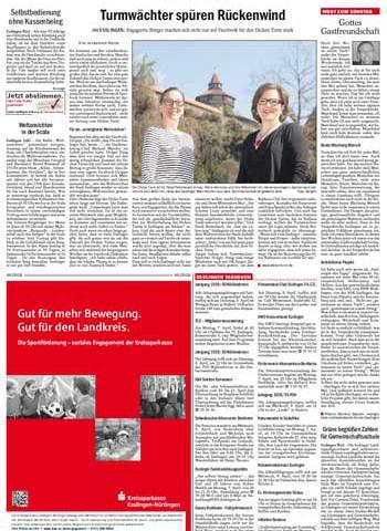 EZ Bericht: Turmwächter verspüren Rückenwind