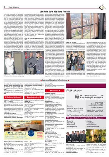 Zwiebel Esslingen: Der Dicke Turm hat dicke Freunde