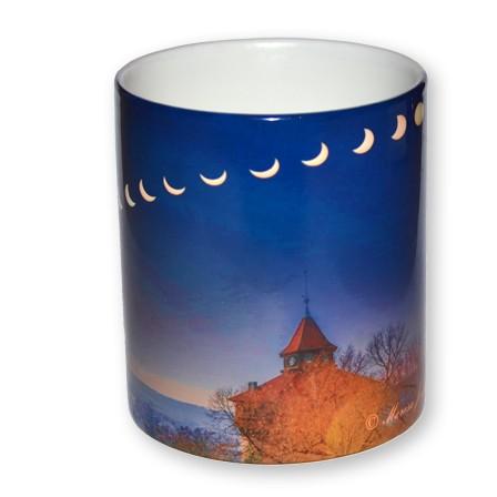 Sonnenfinsternis Dicker Turm Tasse
