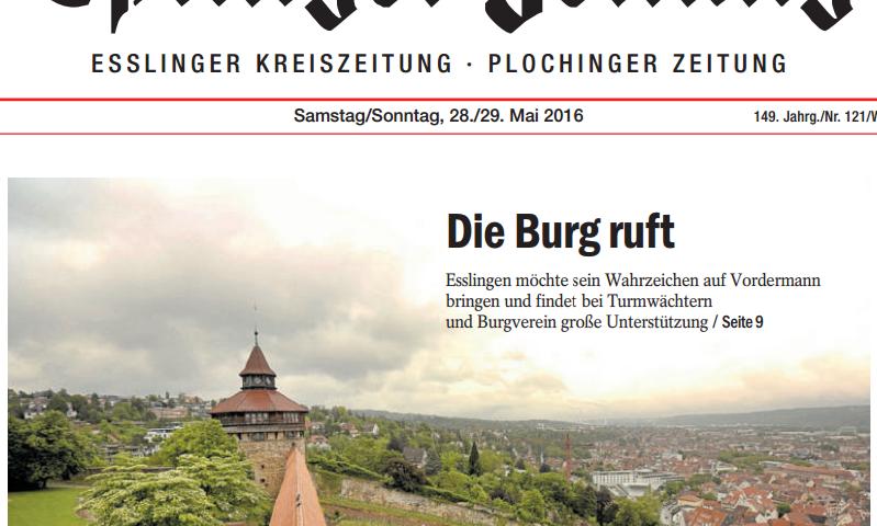 Turmwächter-Dicker-Turm-Esslinger-Zeitung-Titelbild-27-05-2016