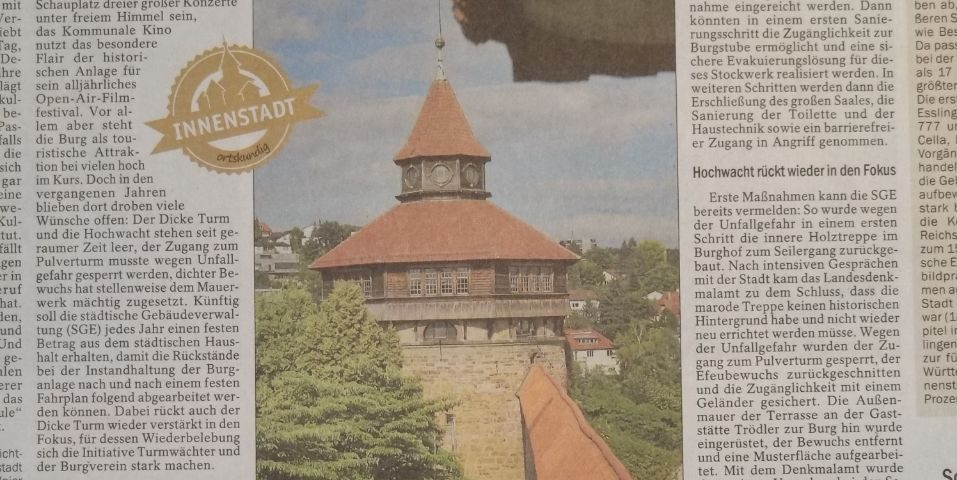 Len Esslingen großreinemachen auf der höh esslinger zeitung 29 06 2017