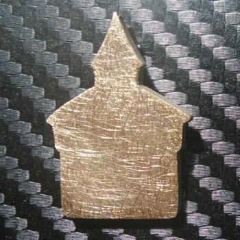 Anhänger Dicker Turm in Gold