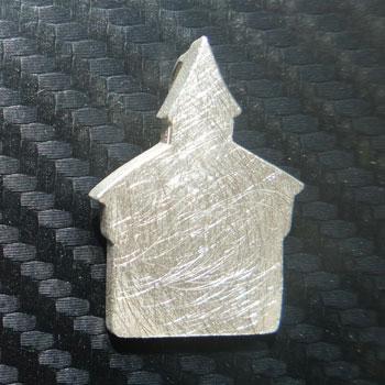 Anhänger Dicker Turm in Silber